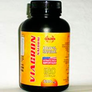 Viagron Natural com 120 cápsulas 500mg